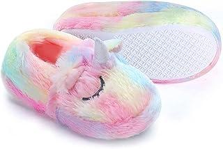 Zapatos de felpa de unicornio Zapatos de felpa para adultos Zapatos de algodón de invierno Novedad Ídolo de vacaciones