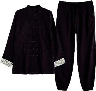 Tai Chi odzież męska i damska wiosna i jesień lniana odzież do ćwiczeń w średnim wieku i starszym tai chii odzież bawełnia...