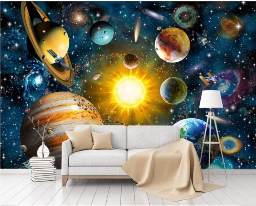 3D Challenge the lowest price of Japan Hand Max 72% OFF Painting Space Universe Wallpaper Decals Mural Wall for