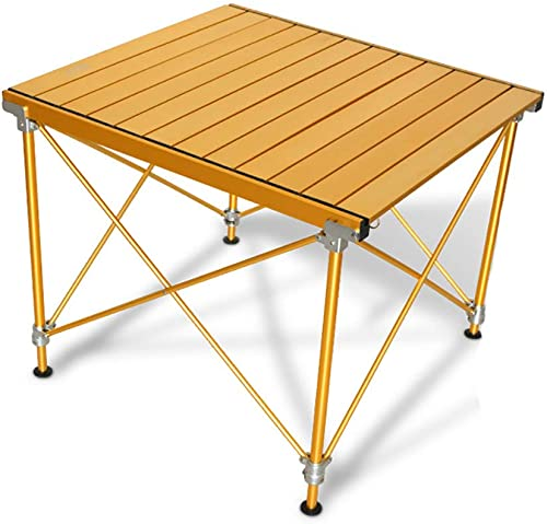 FZTX-ZDY Table de Camping portative avec Plateau en Aluminium, Table de Camping Pliante réglable en Hauteur en Aluminium léger, préfet pour l'extérieur, Pique-Nique, Cuisine, Plage, pêche