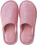 MAYI Pantuflas para Mujer Invierno Dedo del pie Cerrado Zapatillas de Estar por casa con Suela Antideslizante Cálidas y Cómodas, Rojo,36/37 EU Talla Fabricante 38-39