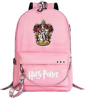 Mochila de Ocio de Hogwarts, Mochila Rosa Harry Potter, con Interfaz de Carga USB y Mochila para Auriculares de 3,5 mm Estilo-1