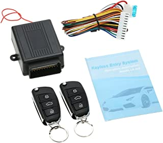 Universal Car Door Lock Keyless Entry System w/Trunk Release Button Remote Central Control Box Kit