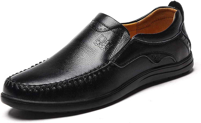 LXLA - män s Cowhide Business Casual läder skor, herrar Slip -on Winter Dress skor for män (Färg  svart, Storlek  9.5 US  8.5 Storbritannien)