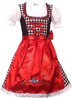 Kiddy Tracht Trachtenkleid 3tlg. Kinder Dirndl Mädchen Kleid Gr. 92,104,116,128,140,146,152