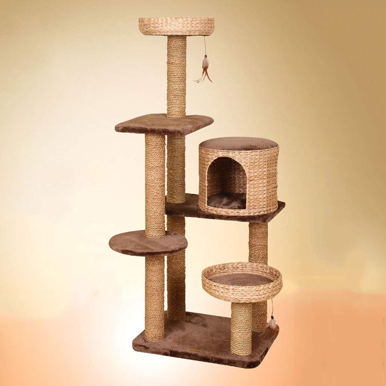 Cat Tree Cat Climbing Frame Cat Frame Cat Toy Cat Scratch Board Cattail Grass Cat Springboard Boardboard Large Cat Toy Pet Supplies, 62  48  156cm