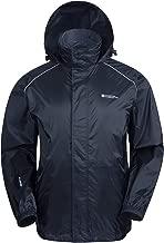 Mountain Warehouse Pakka Mens Waterproof Packable Jacket - Foldaway Hood Jacket, High Vis Mens Coat, Lightweight Rain Jacket - for Autumn & Travelling