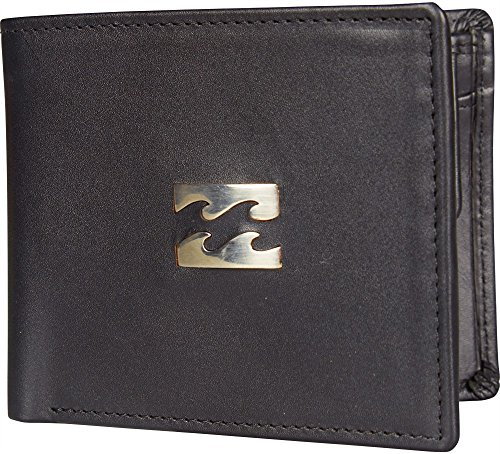 2017 Billabong Icon Snap Leather Wallet BLACK C5LW03
