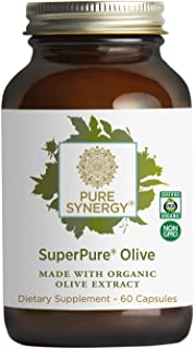 Pure Synergy SuperPure Olive Leaf, Oil, Fruit Extract (60 Capsules) w/Oleuropein & Hydroxytyrosol