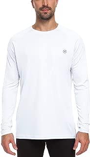 Men's UV Sun Protection UPF 50+ Shirts Outdoor Long Sleeve Crew Neck Running Workout Performance T-Shirt Top