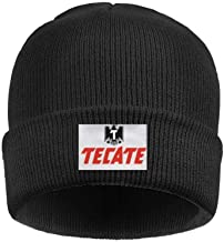 LZJDY Men's Women's Logo-tecate Winter Thick Fine Knit Hat Solid Color Slouchy Beanie Caps One Size