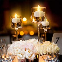 IMAGE Floating Candles, Flameless Floating LED Tea Lights 12 Pack Waterproof Tealight Candles for Wedding Party Spa Home Indoor Outdoor Decor-Yellow