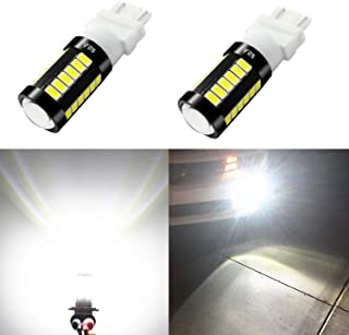 Alla Lighting 2800lm 3156 3157 LED Lights Bulbs Xtreme Super Bright T25 3056 4057 4157 3457K 3057 LED Bulb 5730 33-SMD Dual Back-Up Reverse,Turn Signal,Brake Stop Tail Lights, 6000K Xenon White