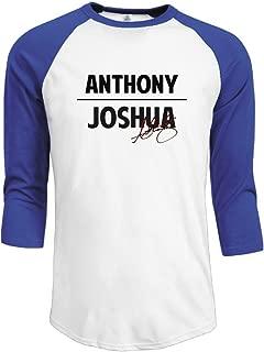 Duola Men's Baseball 3/4 Sleeve Raglan T-shirt AJ Boxer Signature Black