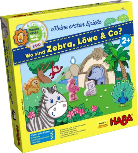 HABA Where are Zebra, Lion and Co My Very First Games