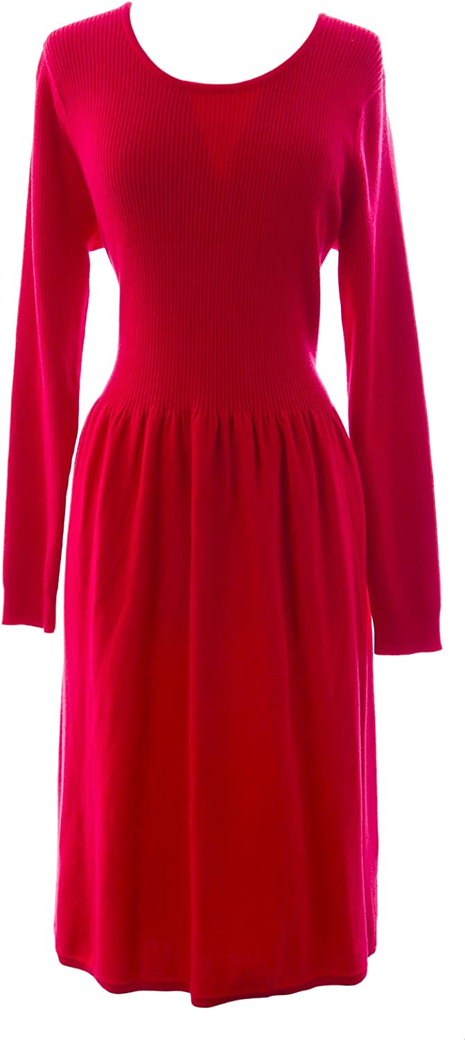 BODEN Women's Knitted Laura Dress US Sz 14R Red