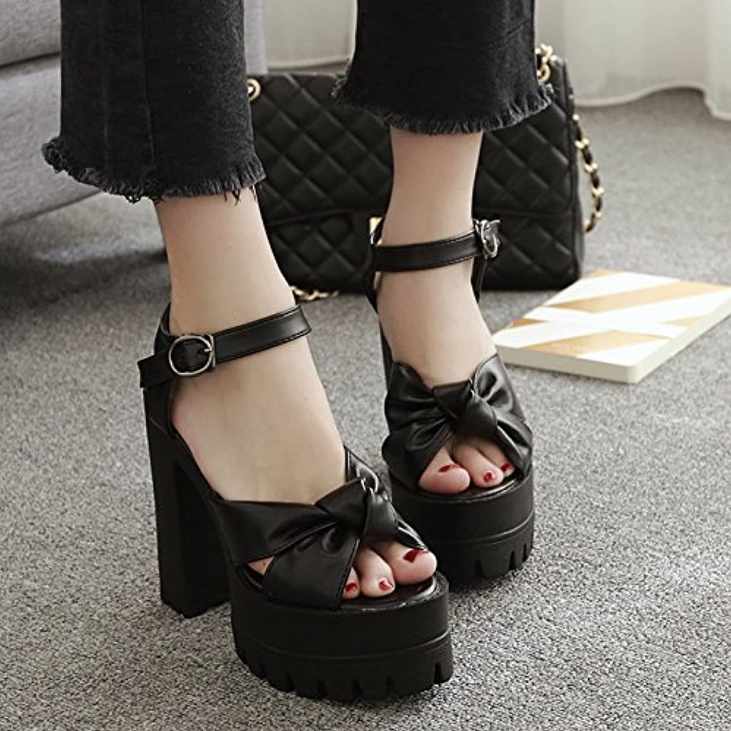 Thick Heel Sandals and high Heel Sandals in European and American Fashion