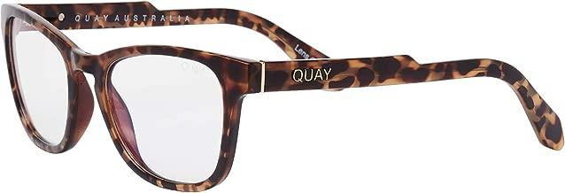 Quay Australia Women's Hardwire Mini Square Blue Light Blocking Glasses