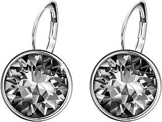 Halloween Sparkle Hoop Earrings Crystals from Swarovski Women Girl Party Jewelry Elegant Gifts