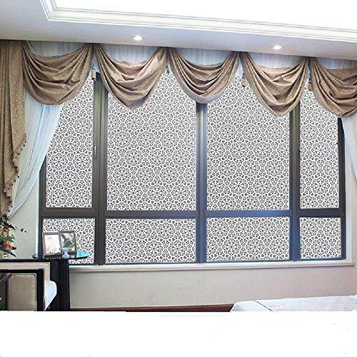 TFOOD Raamfolie, bescherming tegen gegevens en matglas sticker esthetiek statische kunst ronde sticker decoratie uv-bescherming zelfklevende folie op keuken badkamer aanbrengen 30x200cm
