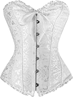 CHARMIAN Women's Burlesque Brocade Wedding Bridal Dance Bustier Corset Lingerie