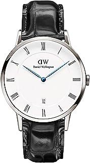 Daniel Wellington Men's Dapper Reading White Dial Leather Band Watch - DW00100108