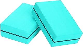 """Carllg Yoga Blocks 2Pack Set for Women 9"""" 6"""" 3"""" High Density Non Slip Sturdy Durable EVA Foam Block, No Odor for Yoga Pilates"""
