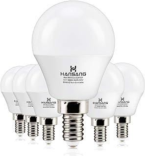 6 watt(60w Equivalent) Hansang LED Bulbs Light E12 Screw Base Candelabra Round Bulb 600..