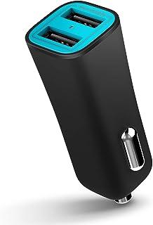 iLuv MobiSeal 2 Dual-Port USB Car Charger, Black, MOBISEAL2BK
