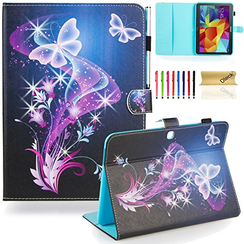 Galaxy Tab 4 10.1 Case,T530 Case, Dteck(TM) Slim Folio Stand Case with Cards Slots [Auto Wake/Sleep Feature] Magnetic Smart Shell Cover for Samsung Galaxy Tab 4 10.1 SM-T530NU T530, Twinkle Butterfly
