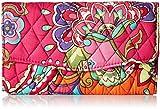 Vera Bradley Women's Strap Wallet Pink Swirls One Size