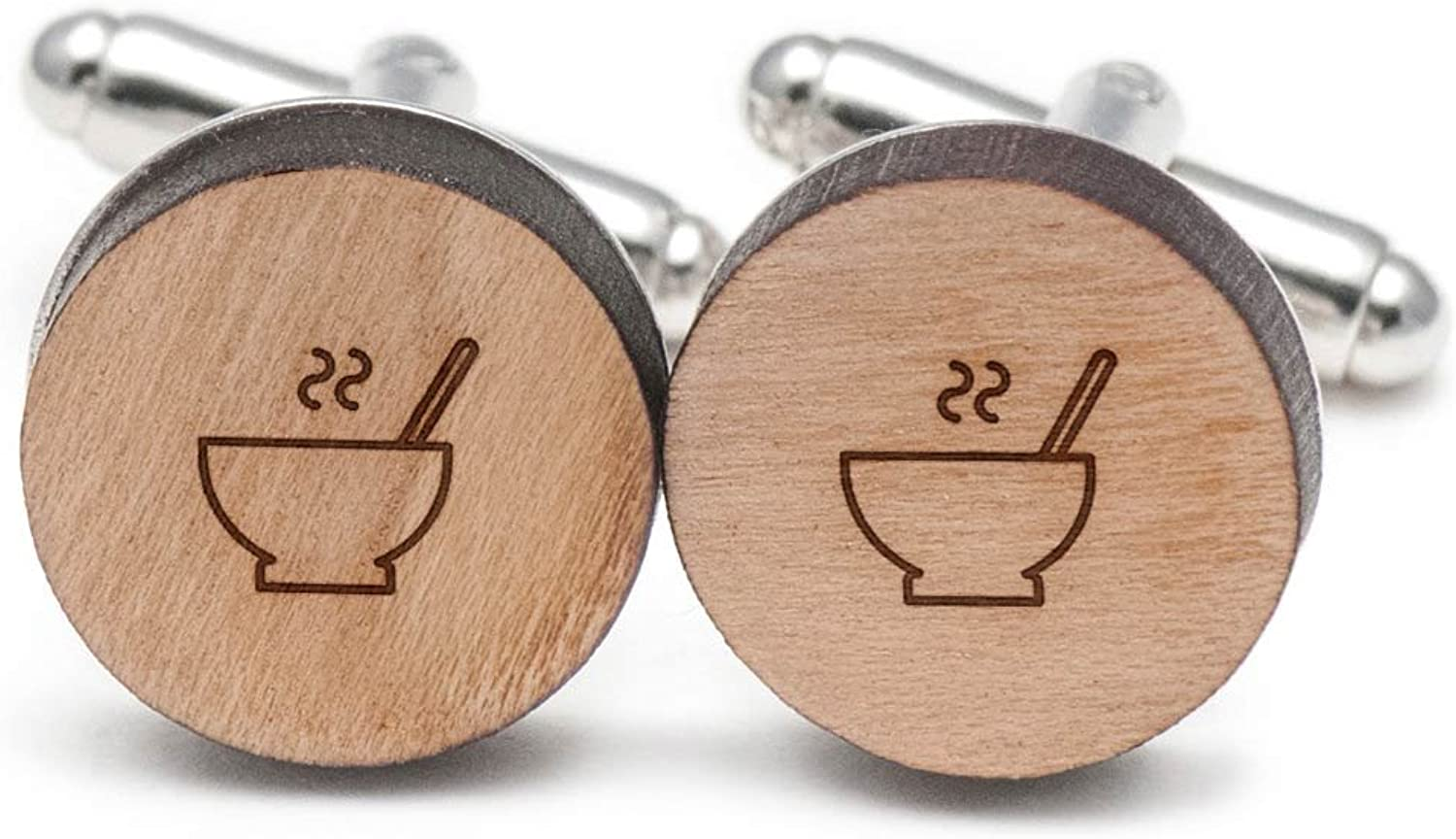 Porridge Cufflinks, Wood Cufflinks Cufflinks Cufflinks Hand Made in the USA c1e634