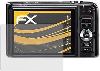 atFoliX Panzerfolie kompatibel mit Casio Exilim EX H10 Hi Zoom Schutzfolie, entspiegelnde und stoßdämpfende FX Folie (3X)