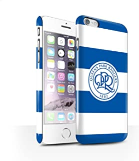 Official Queens Park Rangers FC Phone Case / Gloss Hard Back Snap-On Cover for Apple iPhone 6 / Hoops/Royal Blue Design / ...