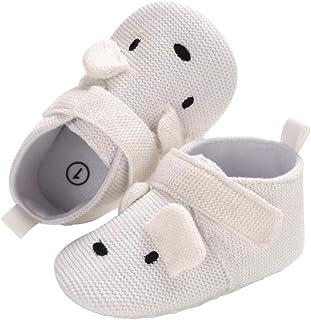 DEBAIJIA Unisexe Chaussettes Chaussures Bébés Premier Pas Tissu en Coton, Semelle Antidérapante pour Enfant Garçon Fille d...