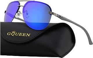 4bbbb95fb9 GQUEEN Bisagras de resorte Premium Al-Mg aviador gafas de sol polarizadas  MOS1