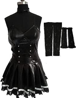 Death Note Misa Amane Imitation Leather Lace Dress Cosplay Costume Uniform
