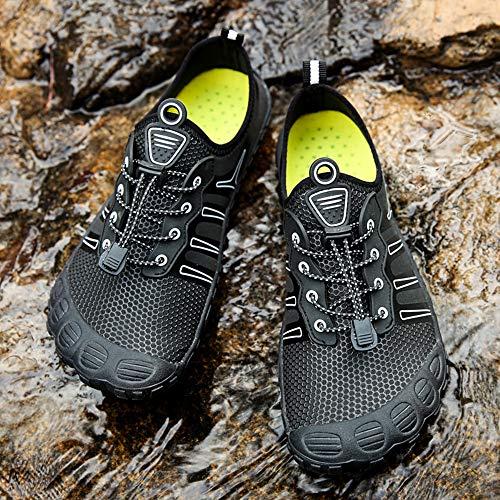 Festnight Hombres Mujeres Zapatos de Agua Deporte Secado rápido Suave Antideslizante Al Aire Libre Descalzo Calcetines Aqua Natación Yoga Surf Kayaking Playa Zapatos Casuales para Caminar