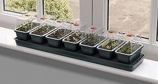 Garland Super 7 Self-Watering Windowsill Propagator, Green, 90x20x20 cm
