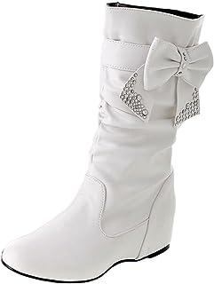 ccd66a7e21022e Nonbrand – Cuir PU Boucle Chaussons Chaussures de Grande Taille pour Femme