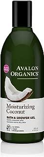 Avalon Organics Moisturizing Coconut Bath & Shower Gel, 12 Fluid Ounce