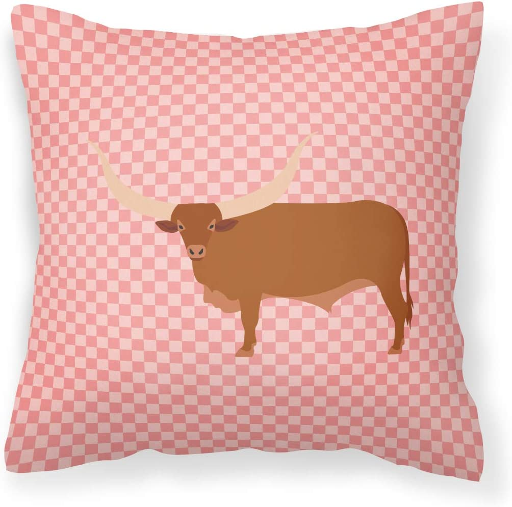 Caroline's Outlet sale feature Treasures BB7823PW1818 Ankole-Watusu Pink Max 64% OFF F Cow Check