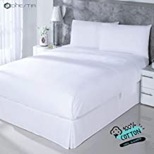 DHestia Hostelería-Juego Sábanas Blancas Hotel 100% Algod