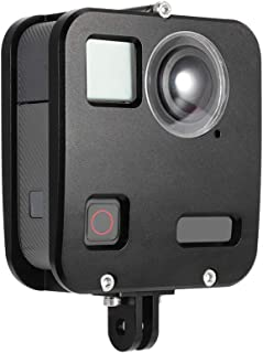 EyeGrab GoPro FUSION専用 Goproケース 保護フレーム 保護ケース アクションカメラアクセサリー ハウジングケース UVレンズ保護キャップ アルミニウム合金 アクセサリー 耐衝撃 5Mまで防水 (2019年バージョンアップ)
