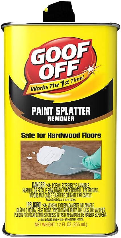 Goof Off FG900 Splatter Hardwoods Dried Paint Remover