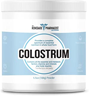 Colostrum Powder - Renegade Colostrum - 100% Pure Whole Milk 6 Hour with A Creamy Taste - Gut Health Repair, Healing, Immune System Support, Strength