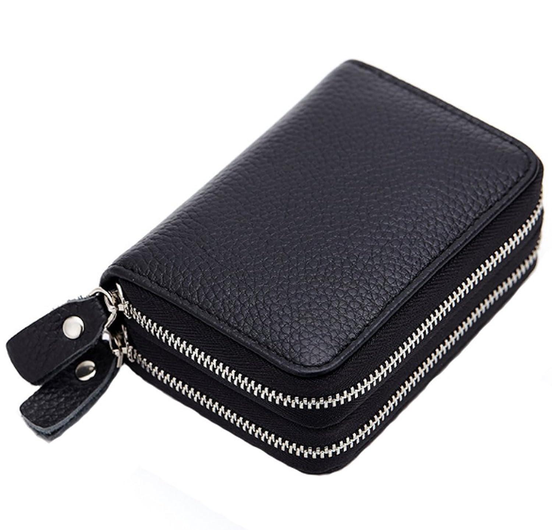 HONB カードケース スキミング防止 本革 大容量 クレジットカードケース小銭入れ じゃばら コイン 財布 レディース メンズ
