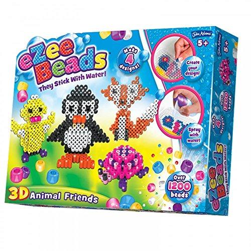 John Adams Ezee Beads - Cuentas en 3D, diseño de Animales, Multicolor