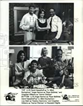 Historic Images - 1996 Vintage Press Photo David Hasselhoff, Angie Harmon and the cast of Baywatch Nights.