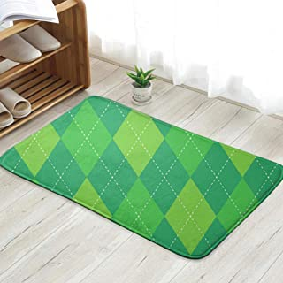Life department store Argyle Plaid Traditional Diamond Golf Personalized Custom Doormats Indoor/Outdoor Doormat Door Mats Non Slip Rubber Kitchen Rugs 31.5 X 19.5 Inch